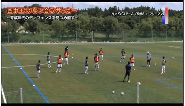 サッカー守備練習 相手に前を向かせない