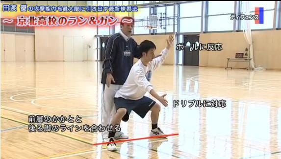田渡 優監督のバスケット練習DVDランアンドガン実演・解説