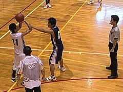バスケットボール審判 二人での協力法