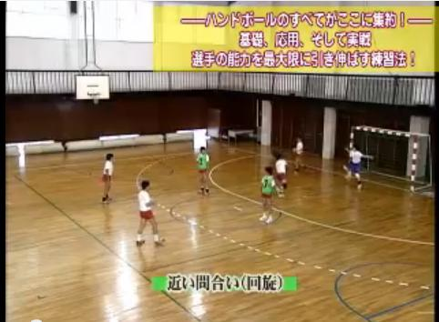 ハンドボールのウォームアップ パス練習法DVD