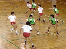 ハンドボール守備練習