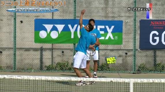 テニス サーブ&リターン練習法 体の使い方・緊張のほぐし方