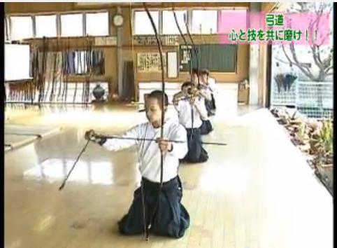弓道のゴム弓を使った引き分け練習法