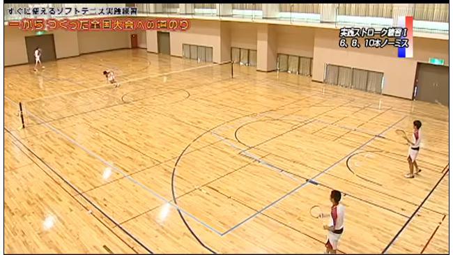 ソフトテニスストローク練習法