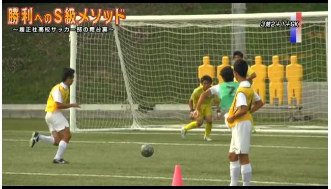 サッカー試合形式の練習法