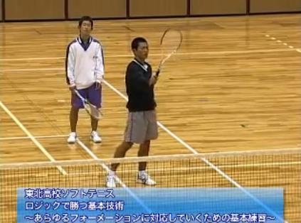 ソフトテニスバックハンド・ボレー練習法DVD