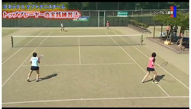 ソフトテニスシングルス練習法DVD