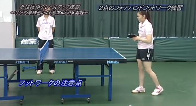 卓球フットワーク練習・指導法実演解説DVD